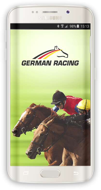 German Racing App auf Smartphone