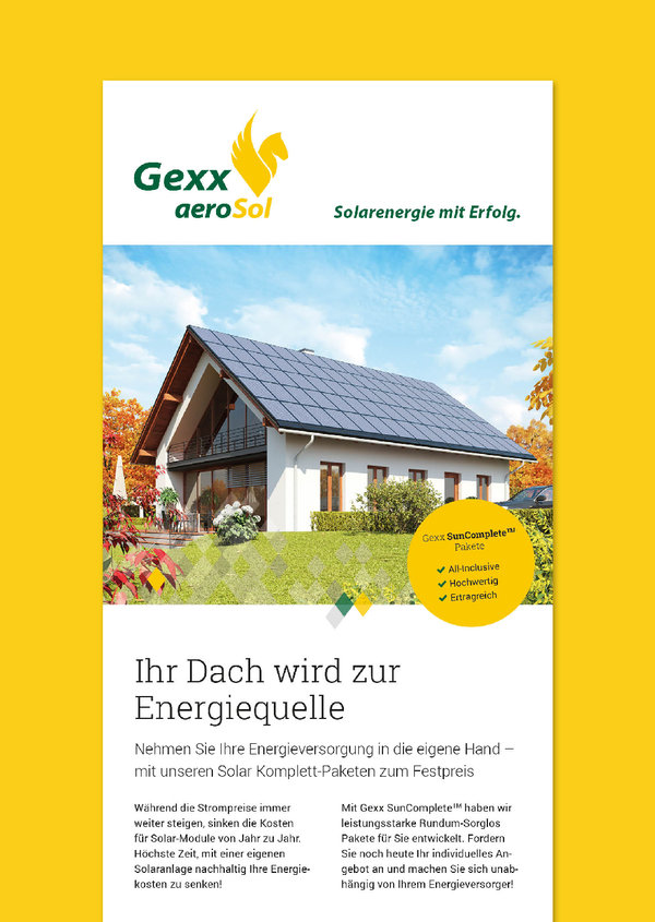 Corporate Design für einen Solaranbieter
