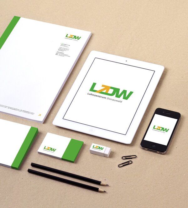 Corporate Design und Website Relaunch für Lohnzentrum Donauwald
