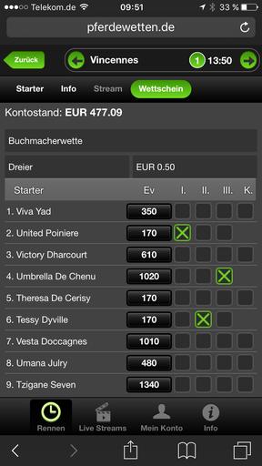Pferdewetten App
